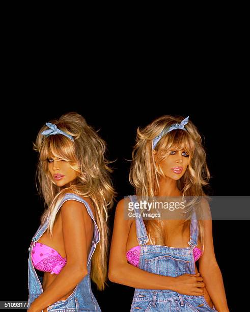 Pinup Models Shane And Sia Barbi Pose For A Portrait June 2 2001 In Los Angeles Ca Their Latest Book Barbi Twins Dying To Be Healthy Millennium...