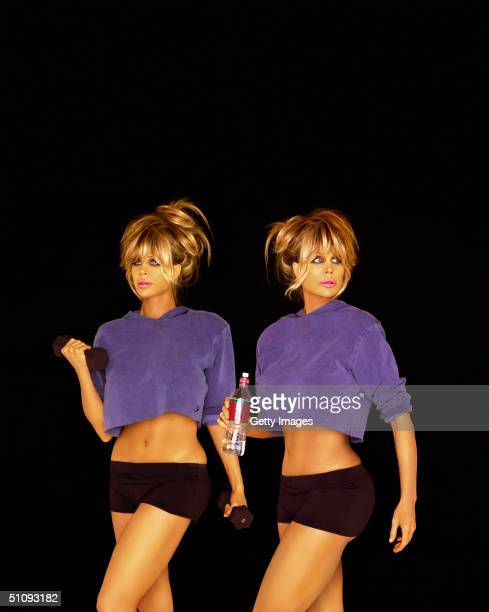 Pinup Models Shane And Sia Barbi Pose For Portraits June 2 2001 In Los Angeles Ca Their Latest Book Barbi Twins Dying To Be Healthy Millennium...