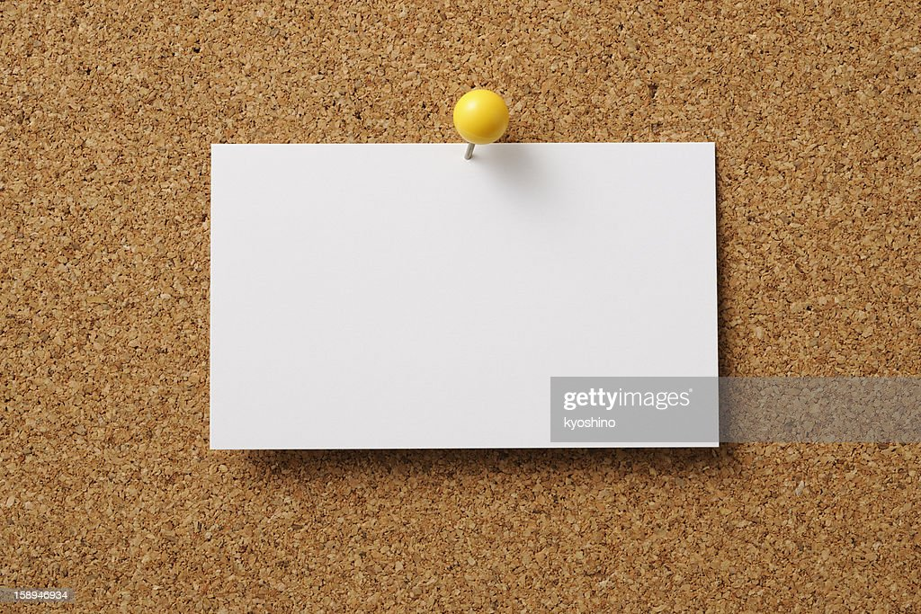 Pinup of blank business card on cork board stock photo getty images pin up of blank business card on cork board stock photo colourmoves Choice Image