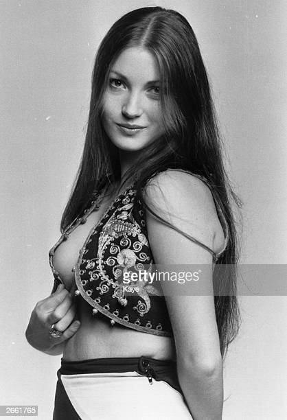 A pinup shot of Jane Seymour the British film actress Original Publication People Disc HL0010
