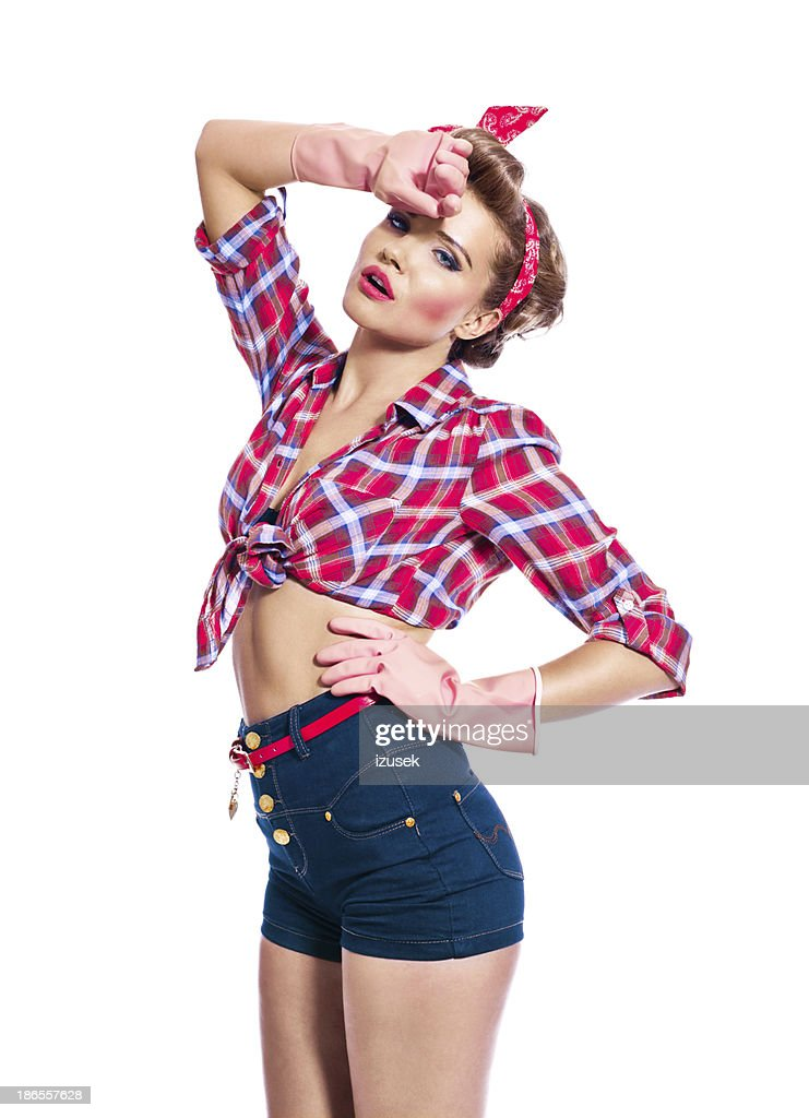 Pinup style cleaner stock photo getty images - Pin up style ...