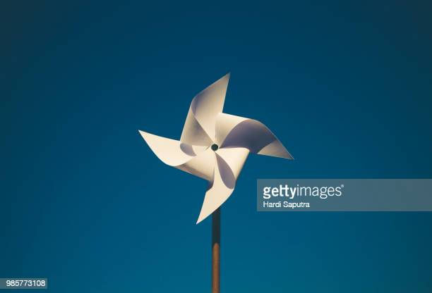 pinwheel - paper windmill stock photos and pictures