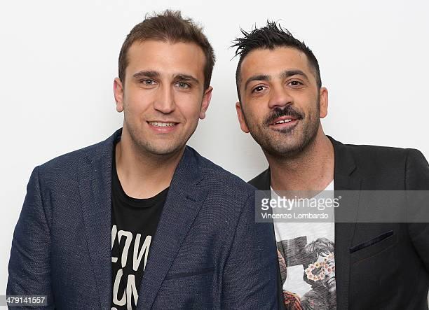 Pio and Amedeo attend at 'Quelli Che Il Calcio' TV Show on March 16, 2014 in Milan, Italy.