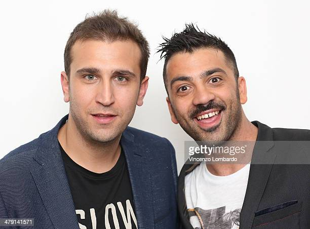 Pio and Amedeo attend at 'Quelli Che Il Calcio' TV Show on March 16, 2014 in Milan, Italy.