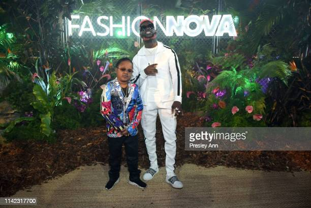 Pio and Atvedad are seen as Fashion Nova Presents Party With Cardi at Hollywood Palladium on May 8 2019 in Los Angeles California
