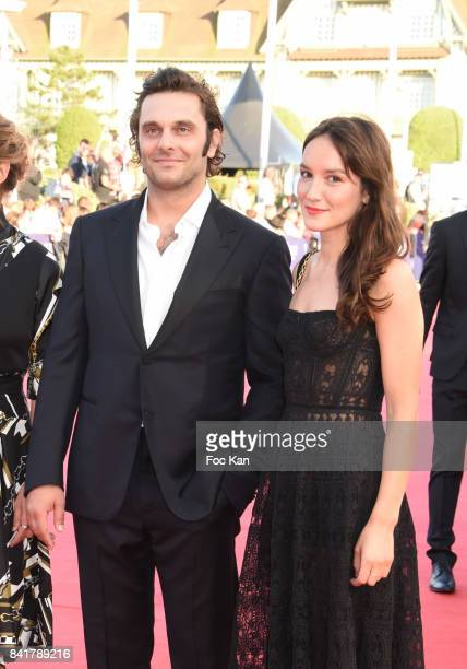 Pio Marma and Anais Demoustier attend the opening ceremony of the 43rd Deauville American Film Festival on September 1 2017 in Deauville France