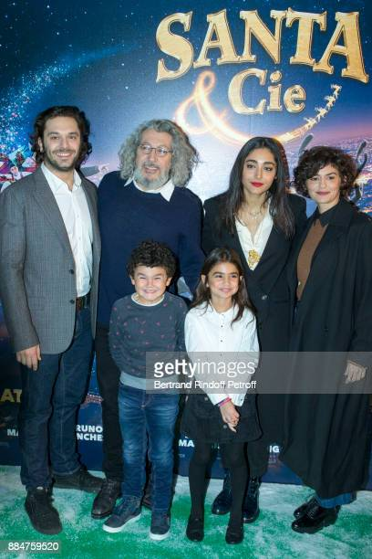 Pio Marmai Alain Chabat Golshifteh Farahani and Audrey Tautou attend 'Santa Cie' Paris Premiere at Cinema Pathe Beaugrenelle on December 3 2017 in...