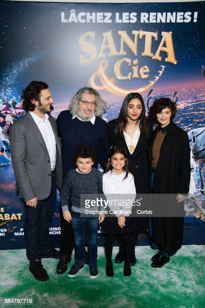 Pio Marmai Alain Chabat Golshifteh Farahani and Audrey Tautou attend the 'Santa Cie' Paris Premiere at Cinema Pathe Beaugrenelle on December 3 2017...