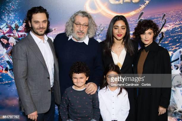 "Pio Marmai, Alain Chabat, Golshifteh Farahani and Audrey Tautou attend the ""Santa & Cie"" Paris Premiere at Cinema Pathe Beaugrenelle on December 3,..."