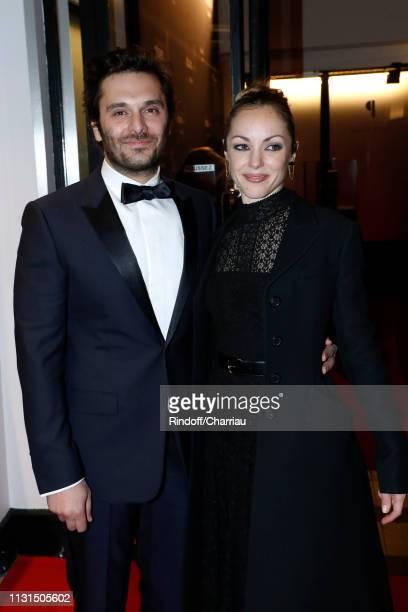 Pio Marmai and Adrianna Gradziel attend the Cesar Film Awards 2019 at Salle Pleyel on February 22 2019 in Paris France