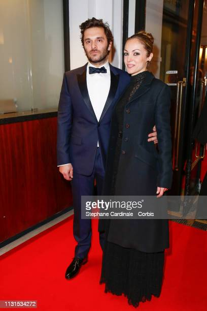 Pio Marmai and Adrianna Gradziel attend the Cesar Film Awards 2019 at Salle Pleyel on February 22 2019 in Paris France