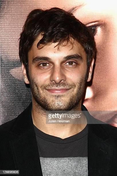 Pio Marmai attends 'Un Heureux Evenement' Paris premiere at UGC Cine Cite Bercy on September 26, 2011 in Paris, France.