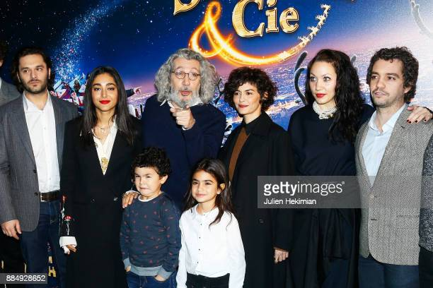 Pio Marmai Golshifteh Farahani Alain Chabat Audrey Tautou Louise Chabat and Bruno Sanchez attend 'Santa Cie' Paris Premiere at Cinema Pathe...