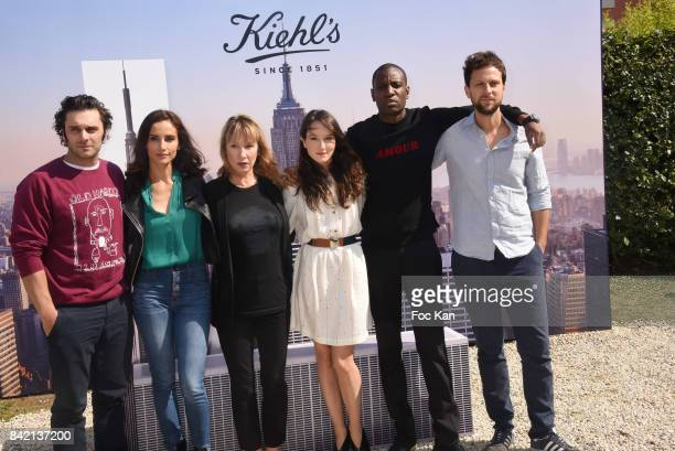 Pio Marmai Leonor Varela Emmanuelle Bercot Anais Demoustier Abd Ali Malik and Pierre Rochefort pose at the Revelations Jury photocall during the 43rd...
