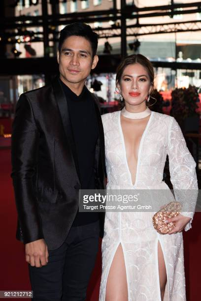 Piolo Pascual and Shaina Magdayao attend the 'Season of the Devil' premiere during the 68th Berlinale International Film Festival Berlin at Berlinale...
