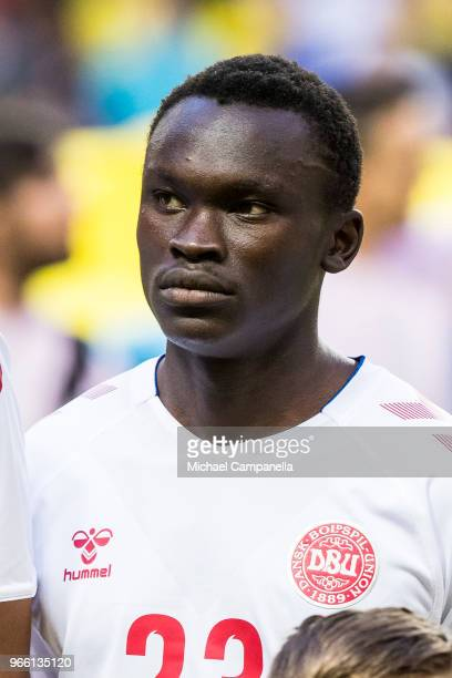 Pione Sisto of Denmark during an international friendly match between Sweden and Denmark at Friends Arean on June 2 2018 in Stockholm Sweden