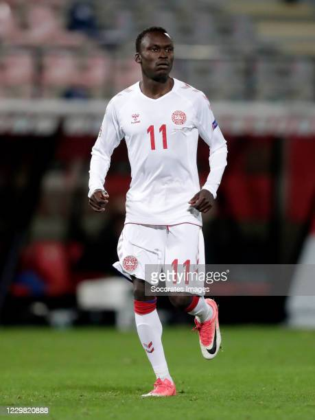 Pione Sisto of Denmark during the UEFA Nations league match between Belgium v Denmark at the King Baudouin Stadium on November 18, 2020 in Brussel...