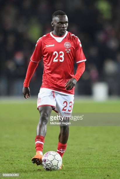 Pione Sisto of Denmark in action during the International Friendly match between Denmark and Panama at Brondby Stadion on March 22 2018 in Brondby...