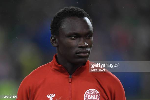 Pione Sisto of Denmark looks on ahead of the UEFA Nations League B Group Four match between Ireland and Denmark at Aviva Stadium on October 13, 2018...
