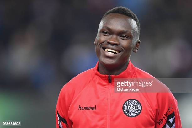 Pione Sisto of Denmark looks on before the International Friendly match between Denmark and Panama at Brondby Stadion on March 22 2018 in Brondby...