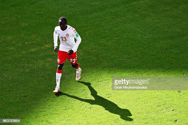 Pione Sisto of Denmark looks on during the 2018 FIFA World Cup Russia group C match between Denmark and Australia at Samara Arena on June 21 2018 in...