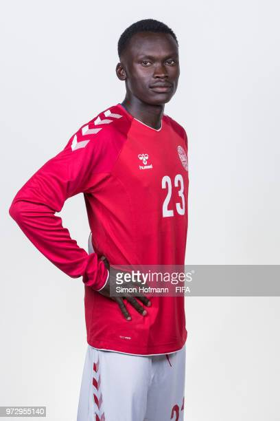 Pione Sisto of Denmark poses during official FIFA World Cup 2018 portrait session on June 12 2018 in Anapa Russia