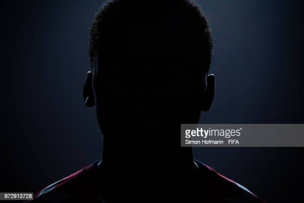 Pione Sisto of Denmark poses during the official FIFA World Cup 2018 portrait session on June 12, 2018 in Anapa, Russia.