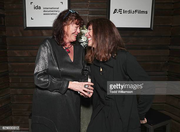 Pioneer award recipient Ally Derks and Diane Weyermann attend the 32nd Annual IDA Documentary Awards at Paramount Studios on December 9 2016 in...