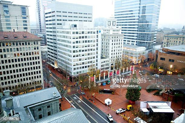 Pioneer Courthouse Square the site of an attempted bombing is seen November 27 2010 in Portland Oregon A Somaliborn teenager Mohamed Osman Mohamud...