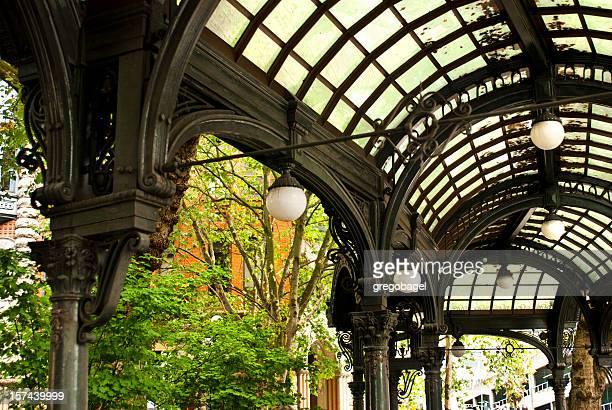 Pioneer Square pergola in Seattle, WA
