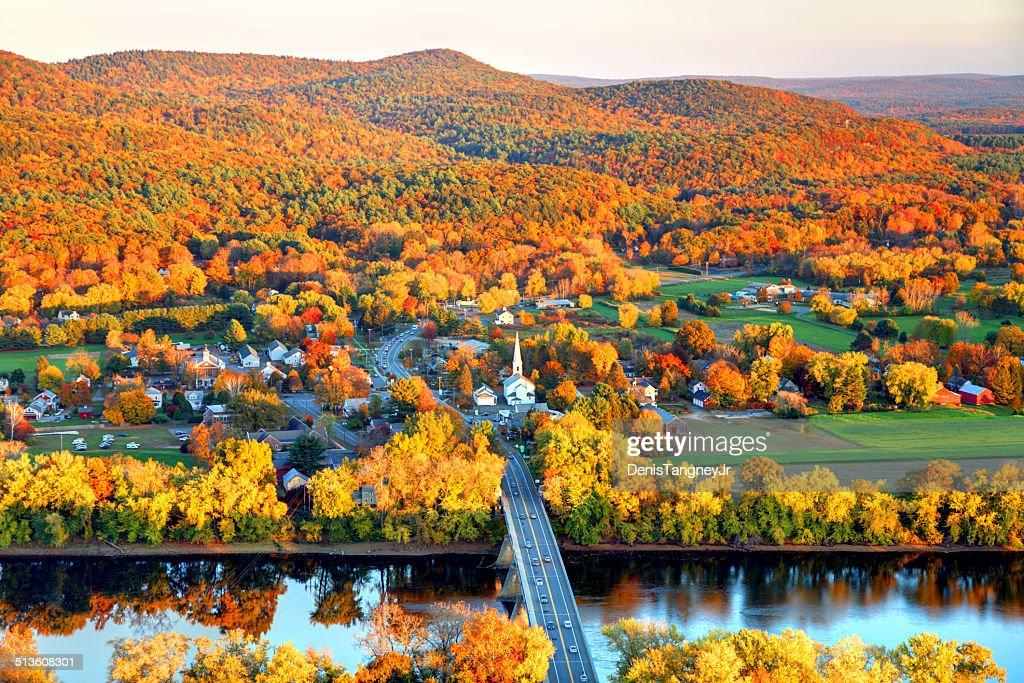 Pioneer Valley no outono : Foto de stock