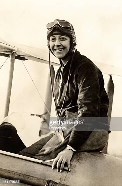 Pioneering aviatrix Amy Johnson circa 1930 Flying solo or with her husband Jim Mollison she set numerous longdistance records during the 1930's