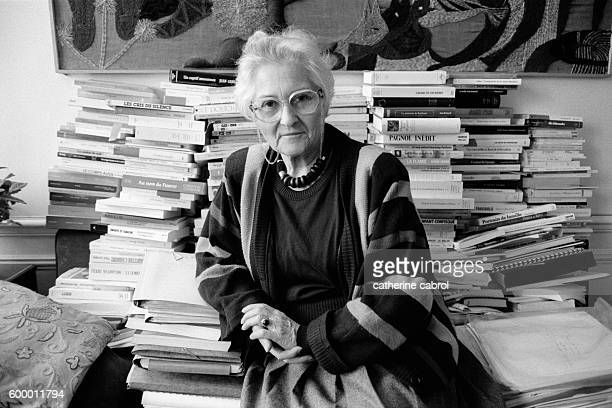 Pioneering French child psychoanalyst Francoise Dolto at home