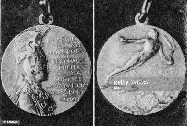 Pioneers of Italian aviation The gold medal donated by the 'Gazzetta dello Sport' for national subscription to the official aviators participating in...