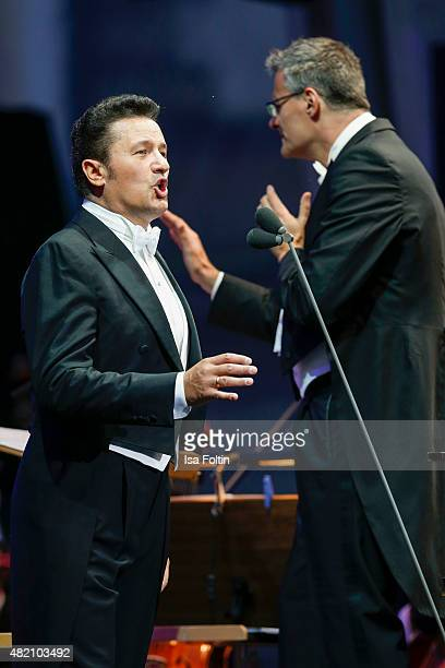 Piotr Beczala performs at the Opera gala during the Thurn Taxis Castle Festival 2015 on July 26 2015 in Regensburg Germany