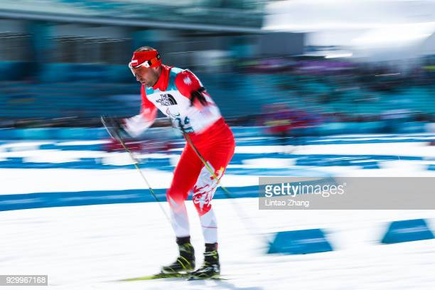 Piotr Garowski of Poland competes in the Men's 7.5km - Visually Impaired Biathlon event at Alpensia Biathlon Centre during day one of the PyeongChang...
