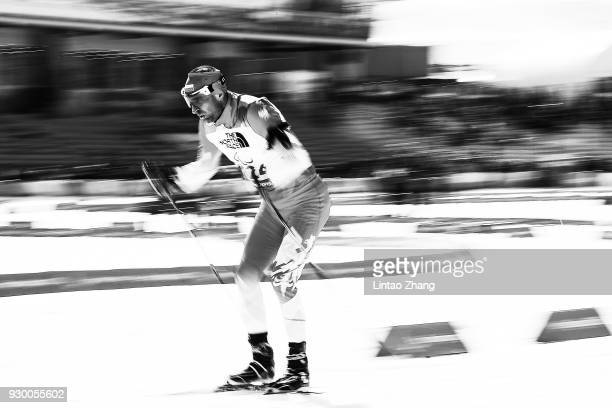 Piotr Garowski of Poland competes in the Men's 75km Visually Impaired Biathlon event at Alpensia Biathlon Centre during day one of the PyeongChang...
