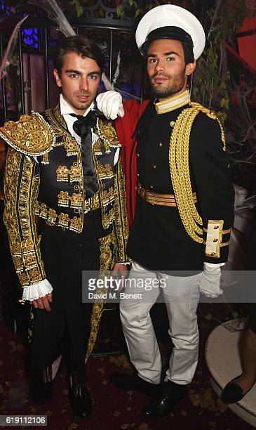 Piotr Krzymowski and MarkFrancis Vandelli attend Halloween at Annabel's at 46 Berkeley Square on October 29 2016 in London England