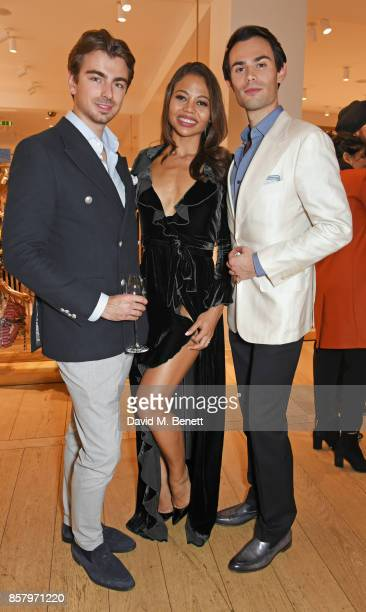 Piotr Krzymowski Emma Weymouth and MarkFrancis Vandelli attend the launch of the new Lady Garden limited edition tshirts designed by Naomi Campbell...