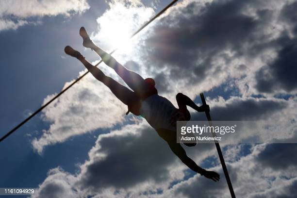 Piotr Lisek from Poland competes in men's pole vault while European Athletics Team Championships Super League Bydgoszcz 2019 - Day Three at Zawisza...