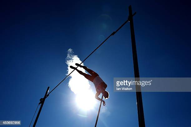 Piotr Lisek of Poland competes in the Men's Pole Vault Final during day five of the 22nd European Athletics Championships at Stadium Letzigrund on...