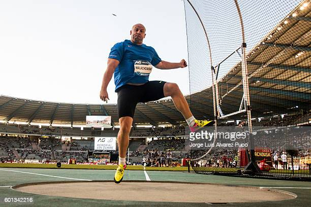 Piotr Malachovski of Poland competes during the Men's Discus Throw of the AG Insurance Memorial Van Damme IAAF Diamond League meeting at King...