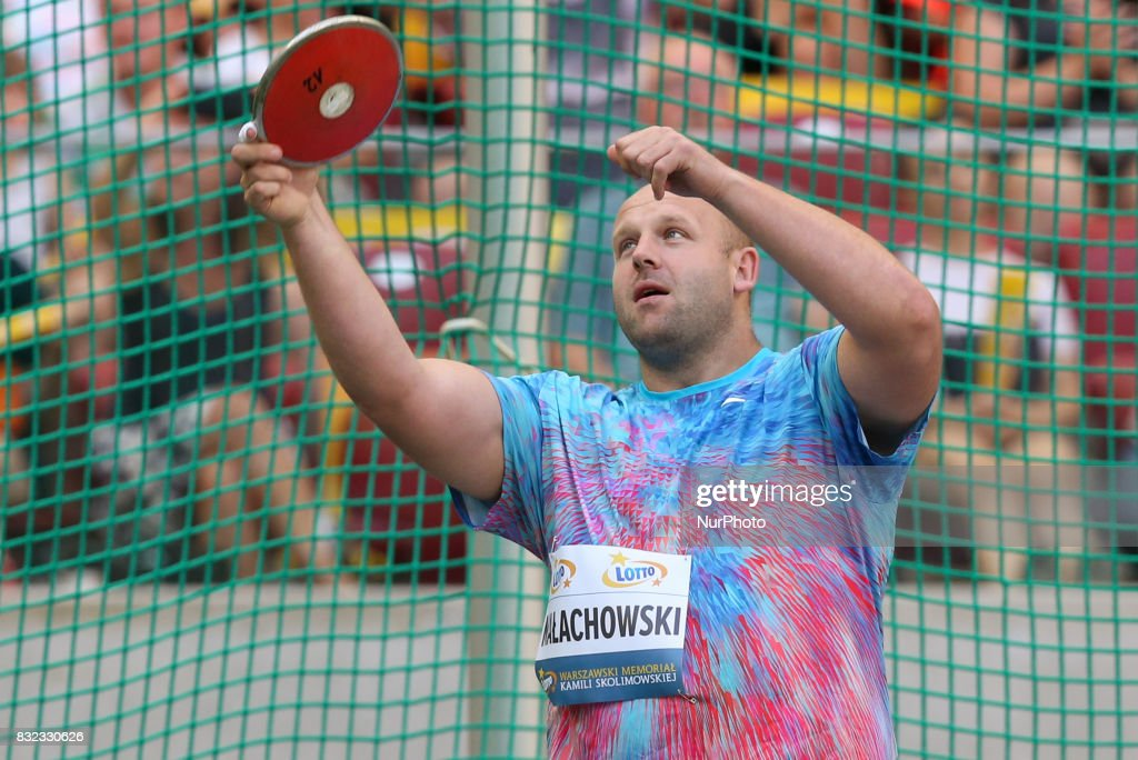 Piotr Malachowski (POL), in action during the 5th Kamila Skolimowska Memorial of athletics in Warsaw, Poland, on 15 August, 2017.
