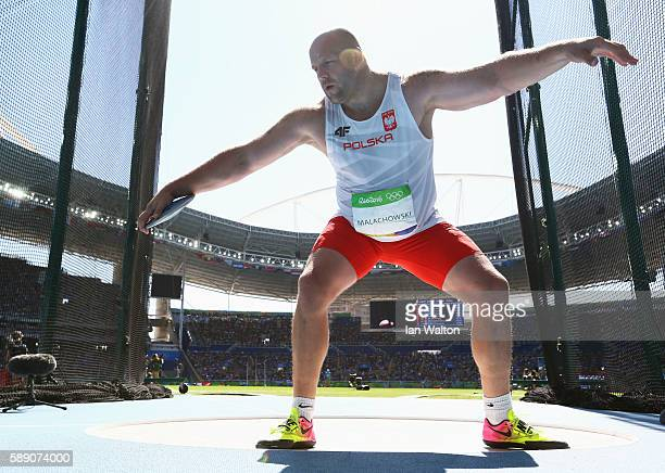 Piotr Malachowski of Poland competes in the Men's Discus Throw Finalon Day 8 of the Rio 2016 Olympic Games at the Olympic Stadium on August 13 2016...