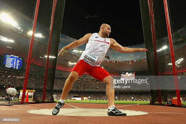 Piotr Malachowski of Poland on his way to winning gold in the Men's Discus final during day eight of the 15th IAAF World Athletics Championships...