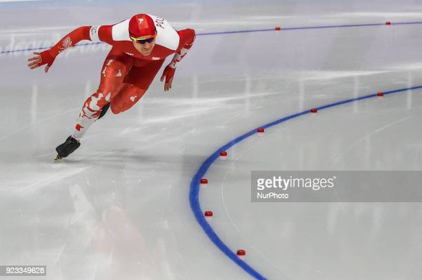 Piotr Michalski of Poland at 1000 meter speedskating at winter olympics Gangneung South Korea on February 23 2018