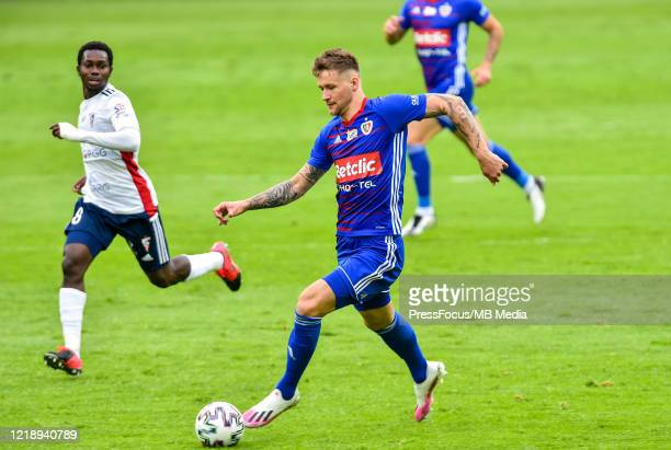 Piotr Parzyszek of Piast in action during the PKO Ekstraklasa match between Gornika Zabrze and Piast Gliwice at Ernest Pohl Stadium on June 9, 2020...