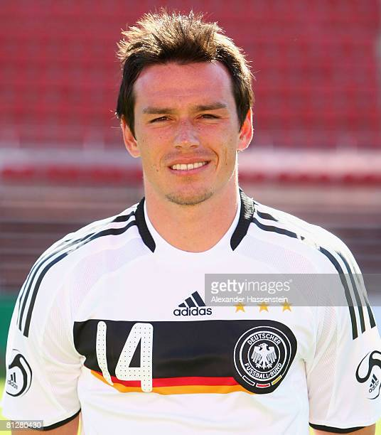 Piotr Trochowski of Germany poses at the team photocall at the Son Moix stadium on May 29 2008 in Mallorca Spain