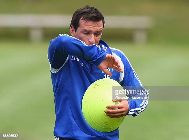 Piotr Trochowski reacts during a training session at day three of the Hamburger SV training camp on July 8, 2009 in Laengenfeld, Austria.