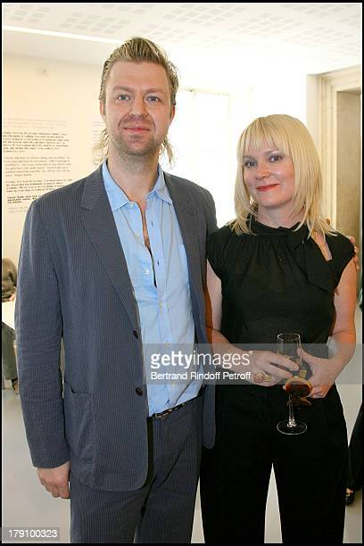 Piotr Uklanski and wife Alisson M Gangeras at Inauguration Of The New Venue The Punta Della Dogana Gallery Showing Francois Pinault's Art Collection